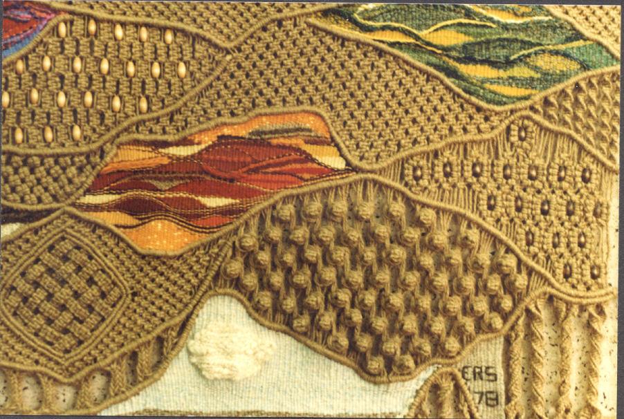 Macrame-Tapestry Detail