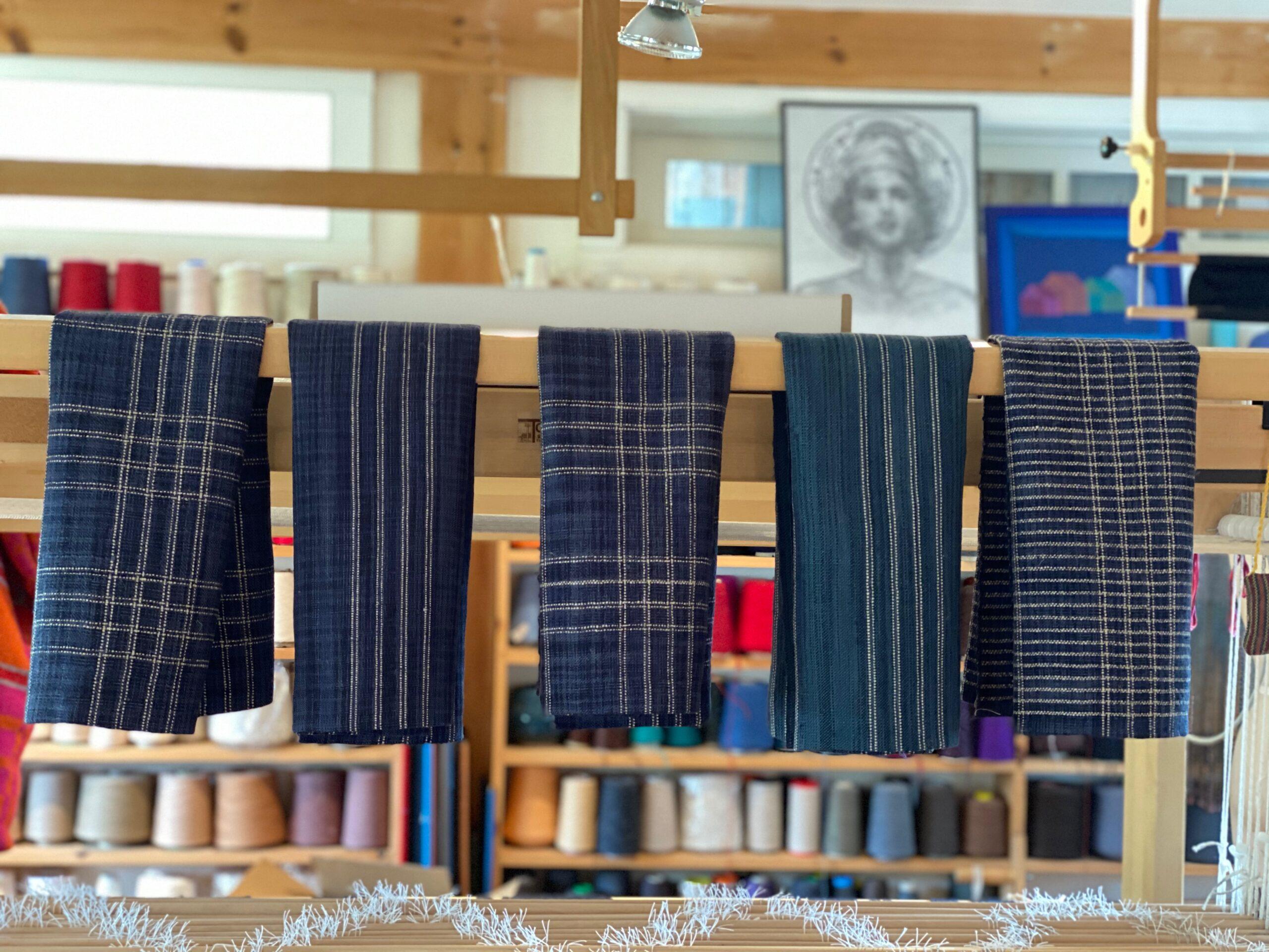 Indigo Linen Towels