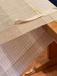 Graph Paper Napkins Flax